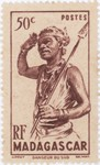 Dancer from the South: 50-Centime Postage Stamp