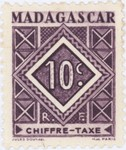 Geometric Design: 10-Centime Postage Stamp