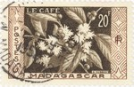Front: Coffee: 20-Franc Postage Stamp