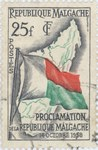 Proclamation of the Malagasy Republic: 25-Franc Postage Stamp
