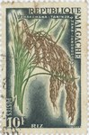 Rice: 10-Franc Postage Stamp