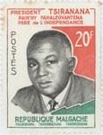 Philibert Tsiranana: 20-Franc Postage Stamp