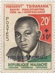 Philibert Tsiranana: 20+10-Franc Postage Stamp