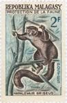 Hapalemur griseus: 2-Franc Postage Stamp