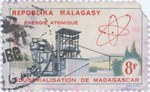 Atomic Energy: 8-Franc Postage Stamp