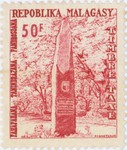 Front: Independence Monument: 50-Franc Pos...