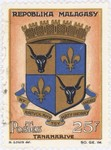 Antananarivo Coat-of-Arms: 25-Franc Postage Stamp