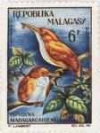Ispidina madagascariensis: 6-Franc Postage Stamp