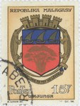 Front: Mahajanga Coat-of-Arms: 15-Franc Po...