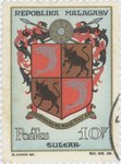 Toliara Coat-of-Arms: 10-Franc Postage Stamp