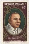 Philibert Tsiranana's 55th Birthday: 20-Franc Postage Stamp