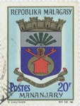 Mananjary Coat-of-Arms: 20-Franc Postage Stamp