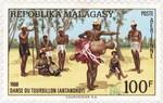 Antandroy Tourbillon Dance: 100-Franc Postage Stamp