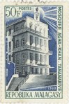 Agha-Khan Mosque in Antananarivo: 50-Franc Postage Stamp