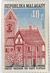 Traditional Merina Highland Dwelling: 40-Franc Postage Stamp