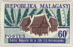 Traditional Betsimisaraka East-Coast Dwelling: 60-Franc Postage Stamp