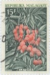 Litchis: 15-Franc Postage Stamp