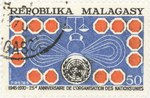 United Nations, 25th Anniversary: 50-Franc Postage Stamp
