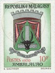 Ambalavao Coat-of-Arms: 10-Franc Postage Stamp