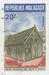Traditional Betsileo Highland Dwelling: 20-Franc Postage Stamp