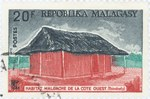 Traditional Tsimihety West-Coast Dwelling: 20-Franc Postage Stamp