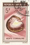 Agate Carnelian: 5-Franc Postage Stamp