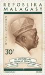 Philibert Tsiranana's 60th Birthday: 30-Franc Postage Stamp