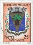 Morondava Coat-of-Arms: 25-Franc Postage Stamp