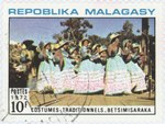 Betsimisaraka Traditional Dress: 10-Franc Postage Stamp