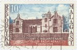 Sesquicentennial of Razafindrahety College: 10-Franc Postage Stamp