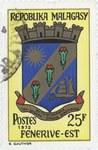 Fenoarivo Atsinanana Coat-of-Arms: 25-Franc Postage Stamp