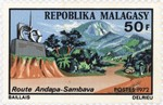 Andapa-Sambava Road: 50-Franc Postage Stamp