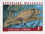 Chameleon campani: 1-Franc Postage Stamp