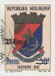 Nosy Be Coat-of-Arms: 30-Franc Postage Stamp with 25-Franc Surcharge