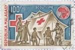 Scouting: 100-Franc Postage Stamp