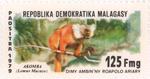 Black Lemur: 125-Franc (25-Ariary) Postage Stamp