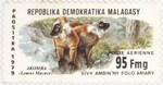 Black Lemurs: 95-Franc (19-Ariary) Postage Stamp