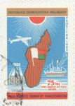 Independence, 20th Anniversary: 75-Franc (15-Ariary) Postage Stamp