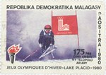 Skiing, Winter Olympics: 175-Franc (35-Ariary) Postage Stamp
