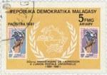 Universal Postal Union: 5-Franc (1-Ariary) Postage Stamp