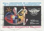 International Civil Aviation Organization: 100-Franc (20-Ariary) Postage Stamp