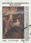 Antonio da Correggio's Nativity: 20-Franc (4-Ariary) Postage Stamp
