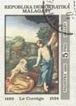 Antonio da Correggio's Noli Me Tangere: 5-Franc (1-Ariary) Postage Stamp
