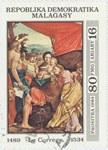 Antonio da Correggio's The Madonna and Child with Saints: 80-Franc (16-Ariary) Postage Stamp