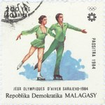 Figure Skating, Winter Olympics: 200-Franc (40-Ariary) Postage Stamp