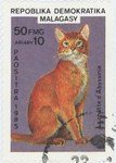 Front: Abyssinian Cat: 50-Franc (10-Ariary...