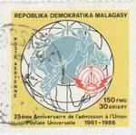 Universal Postal Union: 150-Franc (30-Ariary) Postage Stamp