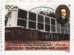 100th Anniversary of Institut Pasteur, Paris: 250-Franc (50-Ariary) Postage Stamp
