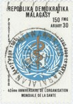 World Health Organization, 40th Anniversary: 150-Franc (30-Ariary) Postage Stamp