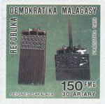 Sakalava Combs: 150-Franc (30-Ariary) Postage Stamp